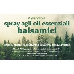 Spray agli oli essenziali balsamici