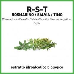 Estratto idroalcolico biologico di Rosmarino-Salvia-Timo